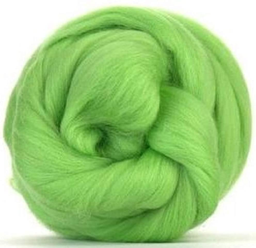 4 oz Paradise Fibers 64 Count Dyed Leaf (Green) Merino Top Spinning Fiber Luxuriously Soft Wool Top Roving for Spinning with Spindle or Wheel, Felting, Blending and Weaving