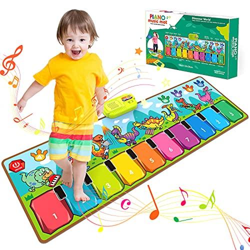 BOXYUEIN Juguete Niño 1 2 3 4 5 Años, Regalo Navidad Niño Tapete Bebe Regalo Niño 2 3 4 5 6 Años Alfombra Piano Regalos para Niños Piano Infantil Juguetes Niñas 2-5 Años Juguetes Niños 2 Años