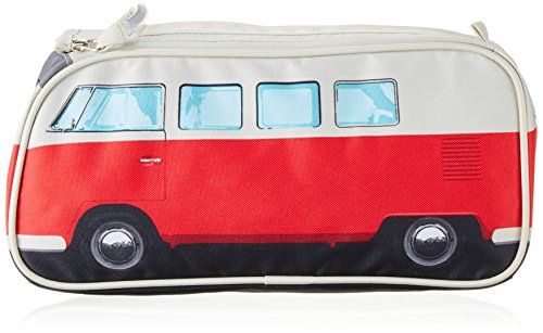 Retro VW bus toilettas rood