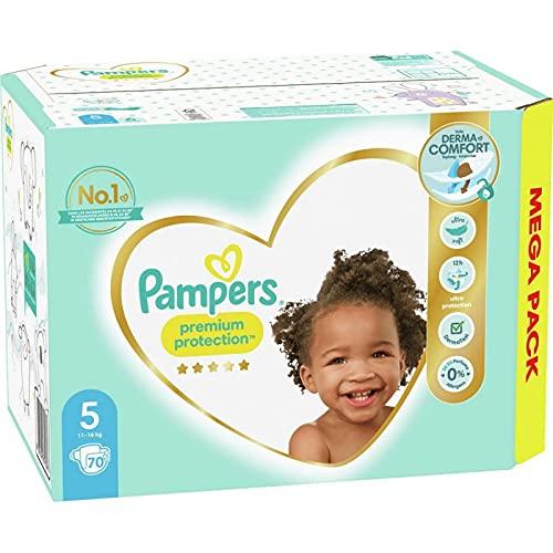 Pampers - Pañales para bebé Premium Protection, talla 5, 70 pañales