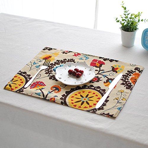 Bureze Tapis de table en coton et lin 30 x 40 cm