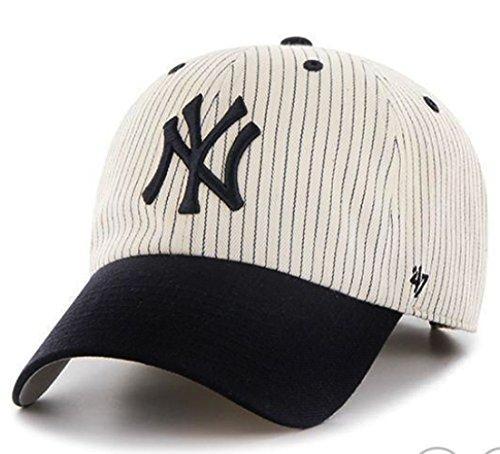 '47 Brand Clean Up New York Yankees Pinstripe Home Run Two Tone Adjustable Cap
