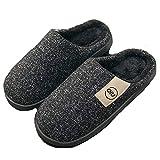 ASR - Pantofole termiche da uomo, in memory foam, per viaggi, hotel, casa, interni, esterni, spa, 40-45, nero, grigio, marrone b 40/41
