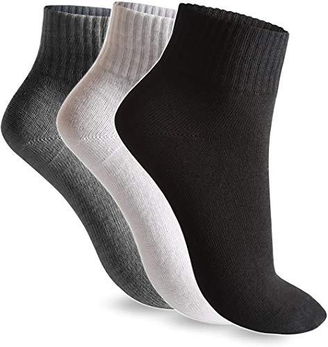 12.06/24 pair Best Basics sokken sportsokken tennis sokken korte sokken Mannen Vrouwen Black Wei?Kurzschaft Quarter Socks Sneaker katoen Gr ?? e 35-38/39-42/43-46, Gr ?? e: 35-38, Kleur: 24 zwar