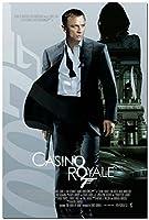 007カジノ・ロワイヤルジェームズ・ボンドのダニエル・クレイグの映画シルクのポスタープリント60x90cm [並行輸入品]
