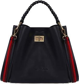 حقيبة يد كبيرة بحمالة من بيفيرلي هيلز بولو كلوب للنساء، جلد - ازرق بروسيان