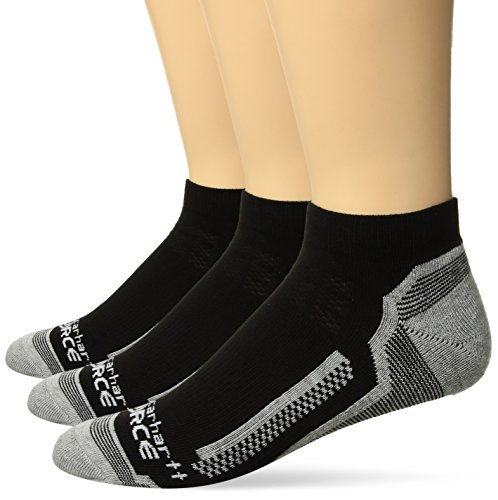 Carhartt Force Performance Sock (3-Pair) Calcetines, Black, L para Hombre