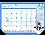 House of Doolittle 2021 Monthly Desk Pad Calendar, Seasonal, 22 x 17 inches, January - December (HOD139-21)