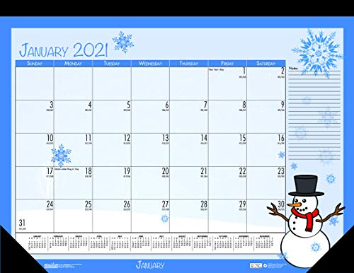 House of Doolittle 2021 Monthly Desk Pad Calendar, Seasonal, 22 x 17 inches, January - December (HOD139-21)