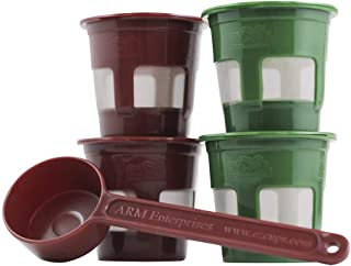 Perfect Pod ECO-Fill Reusable K-Cup Coffee Pod Filter and Coffee Scoop | 4-Pack Refillable Capsules