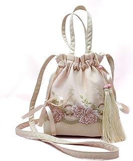 Handmade Lace Fairy Bag/Bag/Retro Purse/Handbag Fringed Shoulder Portable Messenger. jszzz (Color : Purple)