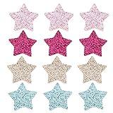 EXCEART Lentejuelas Estrella Parche Apliques: 80 Piezas Hierro en La Insignia Parche Bordado Ropa DIY Accesorio para El Día de San Valentín Boda Ropa Vestido Chaquetas Sombreros