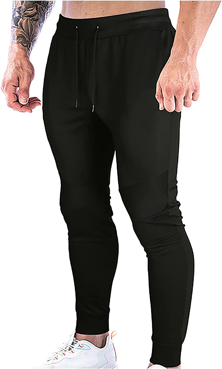 Men's Joggers Sweatpants with Zipper Pockets S Drawstring Quantity Max 72% OFF limited Lounge