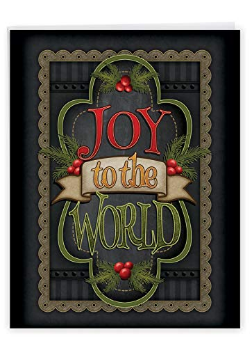 The Best Card Company - Jumbo Merry Christmas Card (8.5 x 11 Inch) - Big Group Notecard for Happy Holidays, Xmas - Chalk Up Another Holiday - I J3297IXSG