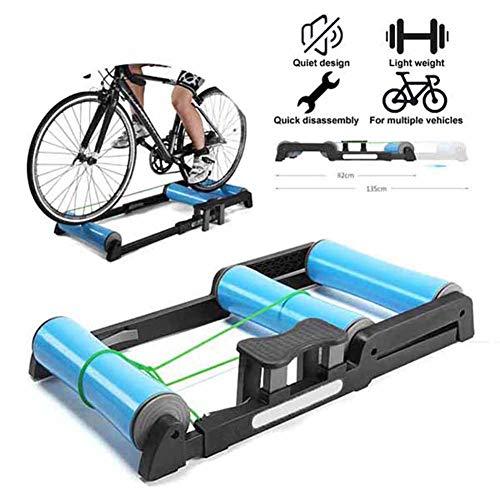 TANCEQI Trainingsapparaat voor fietsen, binnenfietsen, verstelbaar, training, hometraining, antislip, gemakkelijk te vervoeren, geluidsarm, voor mountainbikes van 24-29 inch