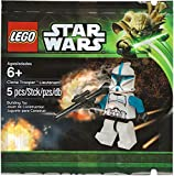 Desconocido 5 Pieces Overseas Direct Products and Parallel Imports Lego 5001709 Clone Trooper Lieutenant Minifigure by LEGO5001709