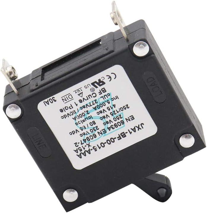 30A Grebest Circuit Breaker Car Interior Parts Breaker ON-Off Hydraulic Magnetic Circuit Breaker 15A 20A 25A 30A 40A Accessory