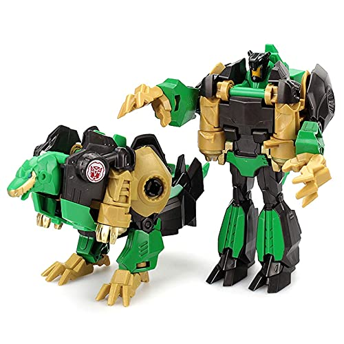 QIXIAOCYB Robot Car, Deformación Juguete King Kong Deformation, Optimus/Hornet Drifting Dinosaur Transforming Coche Dar Kids Mejor Regalo de cumpleaños (Color : S01)