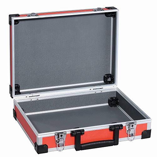 TrendLine Universalkoffer Alu Optik Rot Werkzeugkoffer Sortimentskoffer