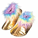 Forum Unicorn Shoe Covers, Gold/Rainbow, One Size
