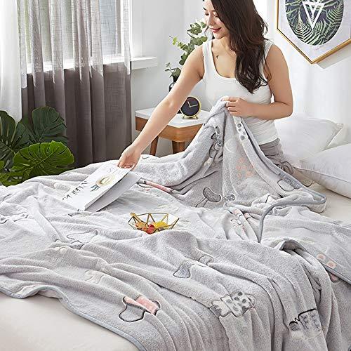 LIANG Microfiber Bed Blanket, Soft Light Weight Blanket, Ultra mjuk flanell filt, lätt, mysig och varm, för säng soffa och vardagsrum lämplig (200 * 230 cm / 78 * 90in)