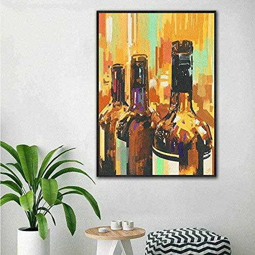 XTTGGD Rompecabezas para Adultos Rompecabezas de 1000 Piezas Rompecabezas de Serie Abstracta Rompecabezas de Botella de Vino Arte Moderno Rompecabezas