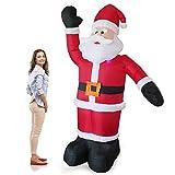 [lux.pro] Papá Noel hinchable - 240cm - con LED brillantes