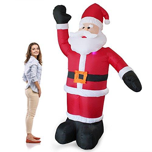 [en.casa] Babbo Natale Gigante Gonfiabile 240cm con 4 LED Uso Interno e Esterno