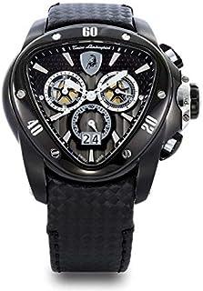 Lamborghini Black Leather Black dial Chronograph for Men [ 1104]