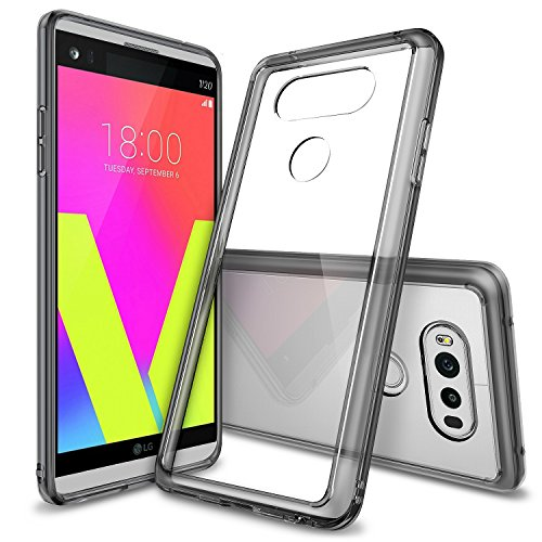 Ringke Fusion Compatible with LG V20 Case Clear PC Back TPU Bumper Drop Protection, Shock Absorption Technology Raised Bezels Protective Cover for LG V 20 2016 - Smoke Black