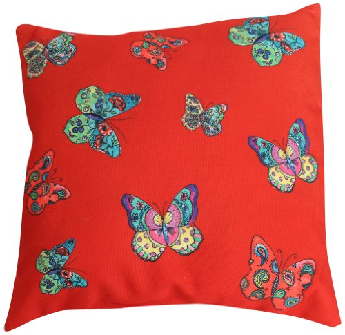 Wow! Works Butterfly Fashion and Decorative Pillow, Red (927637)