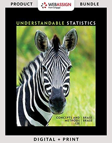 Understandable Statistics + Jmp Access Card for Peck's Statistics + Webassign Access Card for Understandable Statistics, 12th Ed., Single-term: Concepts and Methods