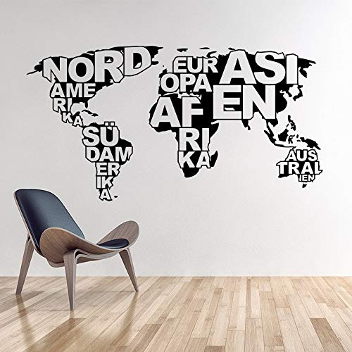 90 * 47 cm Top Fashion Stickers Art Design Mappa del mondo Vinyl Wall Sticker Home Decor Decalcomanie Rimovibile Fai da te casa per soggiorno