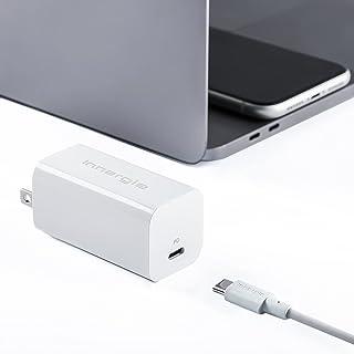 Innergie 60C Pro 60W USB-C 充電器 (PD3.0 超小型急速充電器/1.5mUSB-Cケーブル同梱/PSE技術基準適合/折畳み式) MacBook Pro, MacBook Air, iPad Pro, iPhone,...