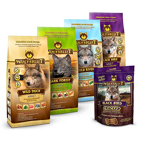 Wolfsblut | Mixpaket Trockenfutter klein | 4 x 500 g + 225 g | Getreidefreies Hundefutter