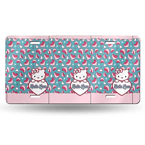 Suzanne Betty Aluminium-Kennzeichen – Hello Love Kitty, Autozubehör, 30,5 x 15,2 cm