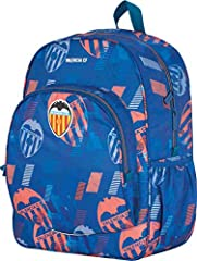 Mochila Portatodo Valencia CF de Color Negro y Naranja