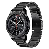 TRUMiRR Zero Gap Band for Galaxy Watch 46mm / Gear S3 with Solid Clips, Quick Release Stainless Steel Watchband Hand Detach Strap Bracelet for Samsung Galaxy Watch 46mm R800/Gear S3 Frontier/Classic