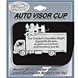 TRUCKER - Pewter Auto VISOR CLIP - for TRUCK Driver GUARDIAN Angel - Protect - Inspirational GIFT