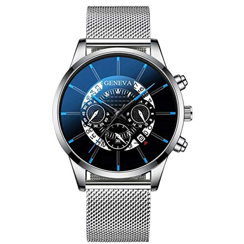 Räumung Uhr U.Expectating, Männer Armbanduhr Luxury Fashion Stainless Steel Mens Blue Ray Glass Quartz Analog Watches Armbanduhr Uhr
