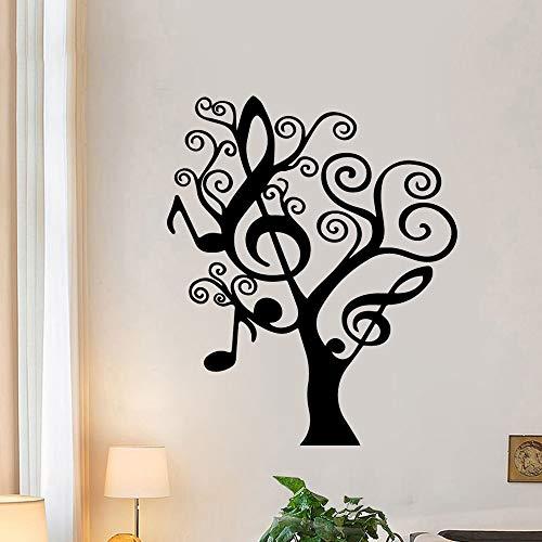 BailongXiao Árbol de música Moderna Pegatinas de Pared decoración Familiar Pegatinas Sala de niños decoración de la Sala Accesorios Vinilo Mural 30x36cm