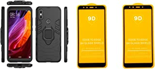 Xiaomi Mi A2 Iron Man Protective Cover With Kickstand Ring Black + 2 Free Screen Protector