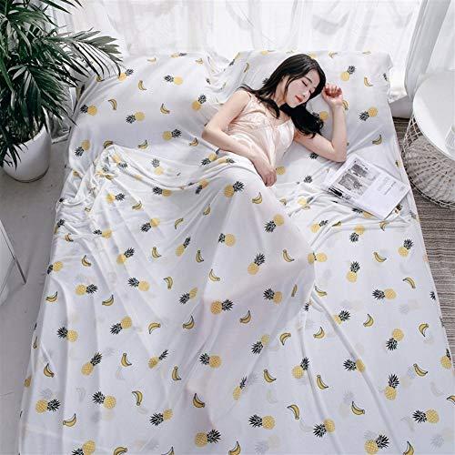 VIVIANE Outdoor-Business-EIS Seidenreiseblätter Erwachsenen Wohnsitz Hotel Hotel Schmutzigen Schlafsack Modalen Doppelgesundheit Bettbezug (Color : Tropical Fruit, Size : 200 * 220cm)