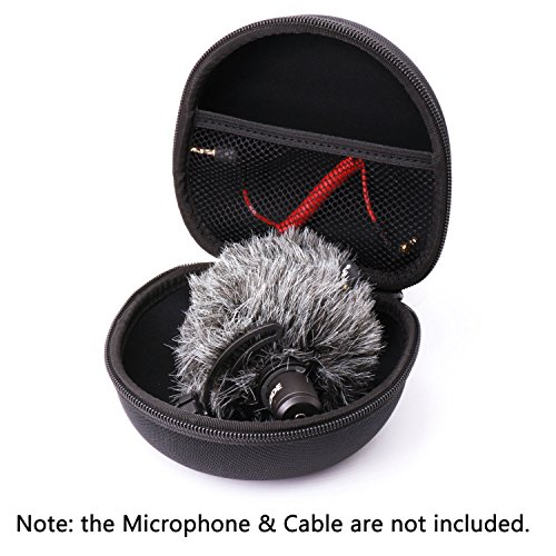 Hard Protecting Case Bag for RODE VideoMicro Microphone,AriMic EVA Hard Travel Case Carrying Bag for RODE VideoMic Me BOYA BY-MM1 Movo VXR1000 Sony ECMXYST1M Stereo Microphone