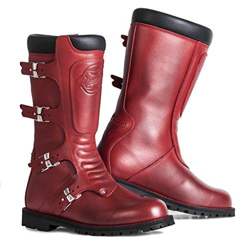 Stylmartin Motorrad Schuhe Continental Stiefel Red-42