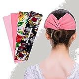 candygirl deft bun fascia per capelli accessorio per chignon con pinza magica multicolore accessorio per 4 pezzi per l'estate di donne e ragazze