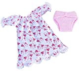 FRILLY LILY NIGHTDRESS AND NAPPY SET FOR LUVABELLA DOLL FROM