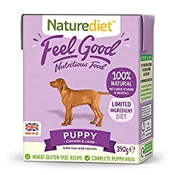 Provides all the protein and nutrients your puppy needs for healthy growth and development. Gently steam cooked recipe. Prepared with ethically sourced premium British chicken and lamb, rice, carrots and potatoes. With no artificial ingredients or pr...