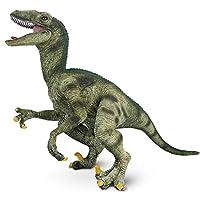 Tagitary 恐竜フィギュア 40cm級 ヴェロキラプトル リアルな恐竜おもちゃ 口の開閉が可能 大迫力 両足で自立 子供おもちゃ 定番おもちゃ 恐竜遊び 誕生日ギフト 祝いプレゼント…