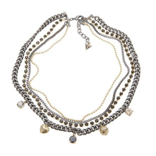 Guess UBN81018 - Collar de Metal bañado en Oro con circonita